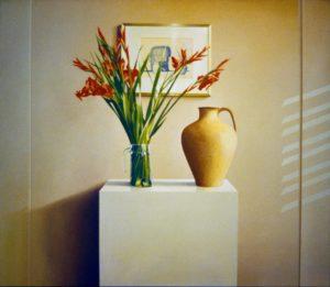 Stilleven met gladiolen