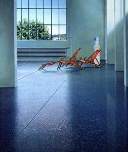 Strandstoel in Migros Museum, Zürich