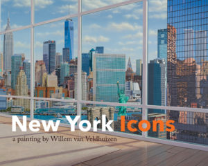 New York Icons a painting by Willem van Veldhuizen